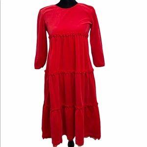 Hanna Andersson little girl velour dress sz 12-14